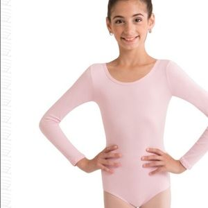 Body Wrappers Girls Child Long Sleeve Leotard 12